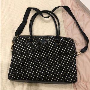 Kate Spade Black/White polka dot Laptop Case